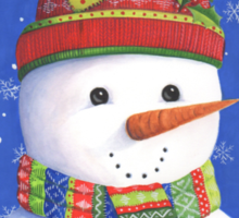 Cute highly detailed snowman Sticker
