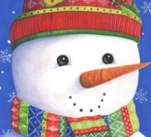 Cute highly detailed snowman Sticker