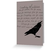 Counting Blackbirds Greeting Card