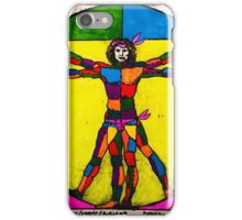 Vitruvian Man Yum Leonardo Da Vinci Colour WITH scarves iPhone Case/Skin