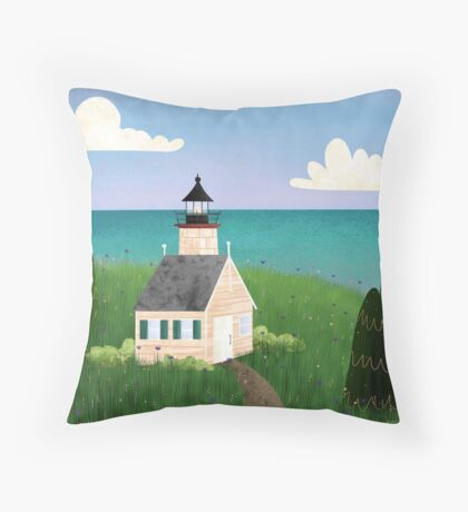 Michigan Lighthouse Throw Pillow