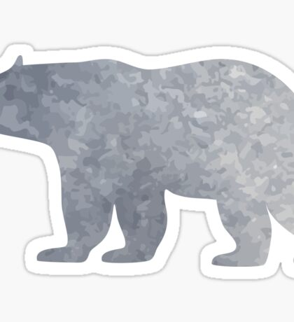 Silver bear Sticker