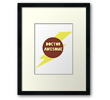 Dr Awesome Framed Print