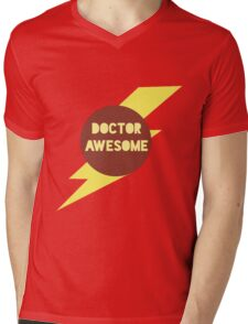 Dr Awesome Mens V-Neck T-Shirt