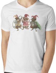 Clown Mice Mens V-Neck T-Shirt