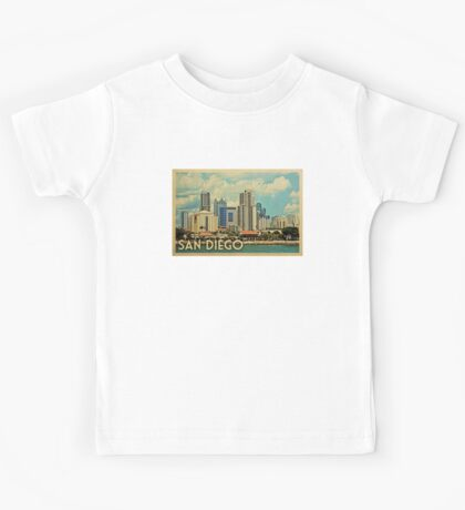 San Diego Vintage Travel T-shirt Kids Tee