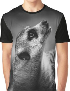 meerkat, black and white Graphic T-Shirt