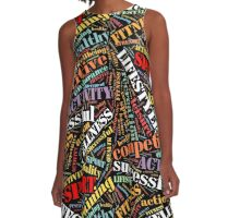 Sport related words pattern A-Line Dress