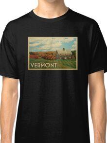 Vermont Vintage Travel T-shirt Classic T-Shirt