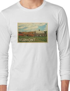 Vermont Vintage Travel T-shirt Long Sleeve T-Shirt