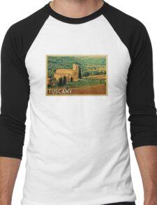 Tuscany Vintage Travel T-shirt Men's Baseball ¾ T-Shirt