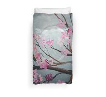 Cherry Blossom Moon Duvet Cover