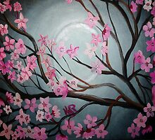 Cherry Blossom Moon by Karen L Ramsey