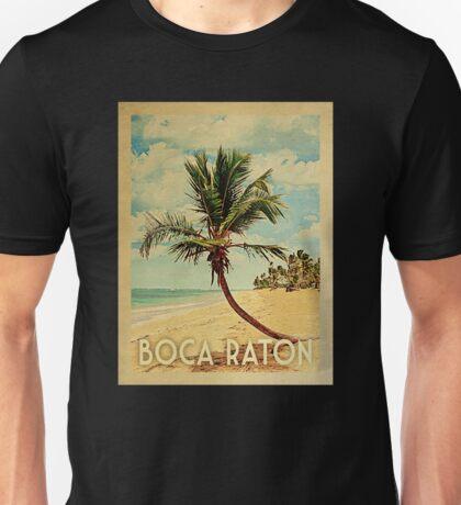 Boca Raton Vintage Travel T-shirt - Beach Unisex T-Shirt