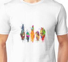 Painted feathers Unisex T-Shirt
