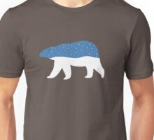 snowy polar bear Unisex T-Shirt
