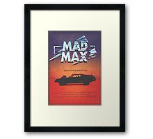 The Last of the V8's - Vintage Custom Mad Max Poster  Framed Print