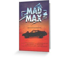 The Last of the V8's - Vintage Custom Mad Max Poster  Greeting Card