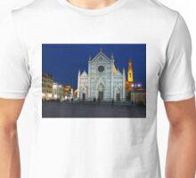 Blue Hour - Santa Croce Church, Florence, Italy Unisex T-Shirt