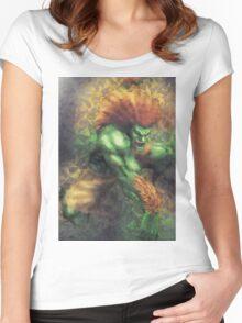 Street Fighter 2 - Blanka Women's Fitted Scoop T-Shirt