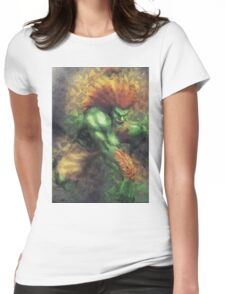 Street Fighter 2 - Blanka Womens Fitted T-Shirt