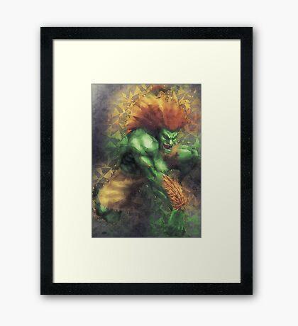 Street Fighter 2 - Blanka Framed Print