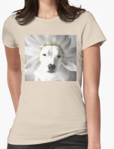 Pittie Flower Womens Fitted T-Shirt