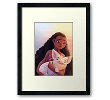 Moana - Vaiana Framed Print