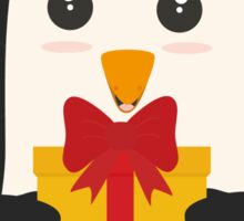 Penguin with Presentbox Sticker
