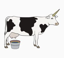 Magical Unicorn Dairy Milk Cow by TheShirtYurt