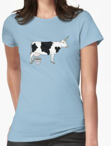 Magical Unicorn Dairy Milk Cow Womens Fitted T-Shirt