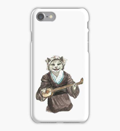 A Singing Cat Playing Samisen iPhone Case/Skin