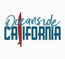 Oceanside California T-shirt - Surfboard Kids Tee
