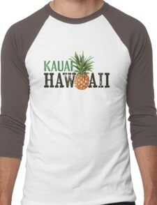 Kauai T-shirt - Vintage Hawaii Pineapple Men's Baseball ¾ T-Shirt