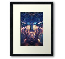 scifi alien abstract design Framed Print