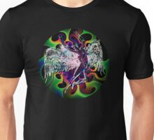 ICARUS THROWS THE HORNS - white rabbit Unisex T-Shirt