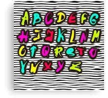 abc Sticker Pin trendy Canvas Print