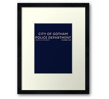 Inspired by Gotham - City of Gotham Police Department Framed Print
