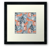 Holiday pattern with animals 5 Framed Print