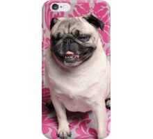 The Laughing Pug iPhone Case/Skin
