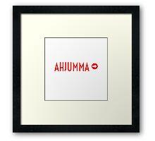 AHJUMMA - WHITE Framed Print
