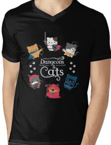 Dungeons & Cats Mens V-Neck T-Shirt