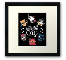 Dungeons & Cats Framed Print