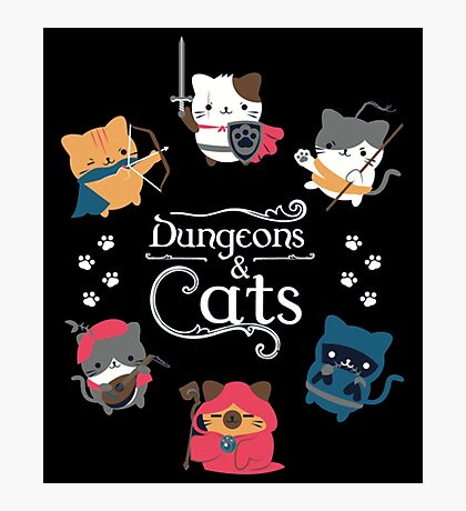Dungeons & Cats Photographic Print