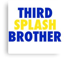 THIRD SPLASH BROTHER Canvas Print