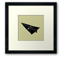 Paper Airplane 36 Framed Print