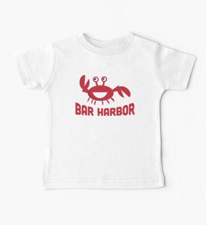 Bar Harbor T-shirt - Funny Red Crab Baby Tee