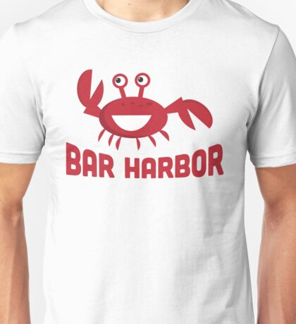 Bar Harbor T-shirt - Funny Red Crab Unisex T-Shirt