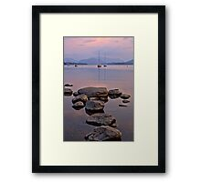 Ullswater Lake and Boats. Framed Print