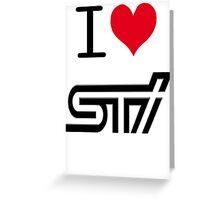 I <3 STI Greeting Card